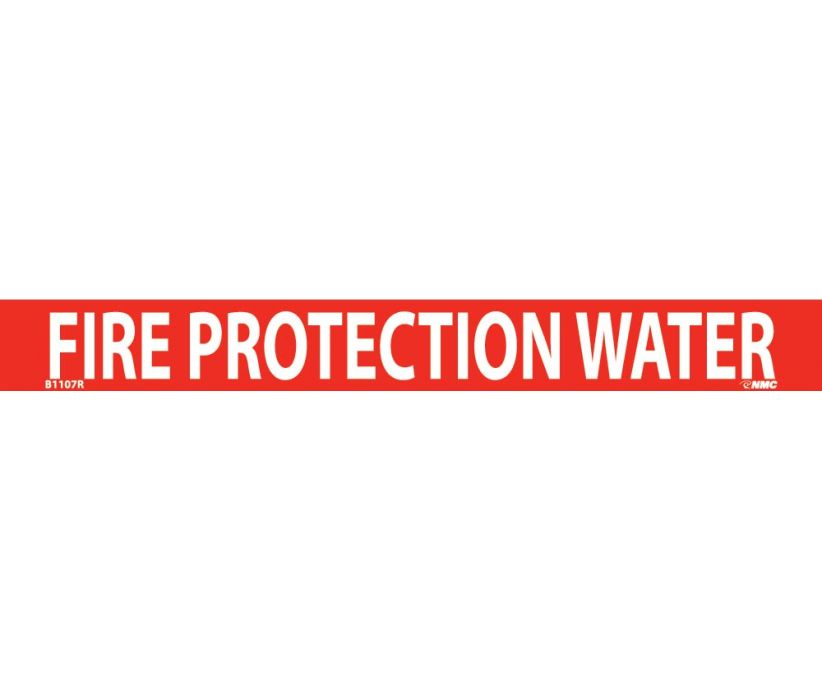 PIPEMARKER, PS VINYL, FIRE PROTECTION WATER, 1X9  3/4