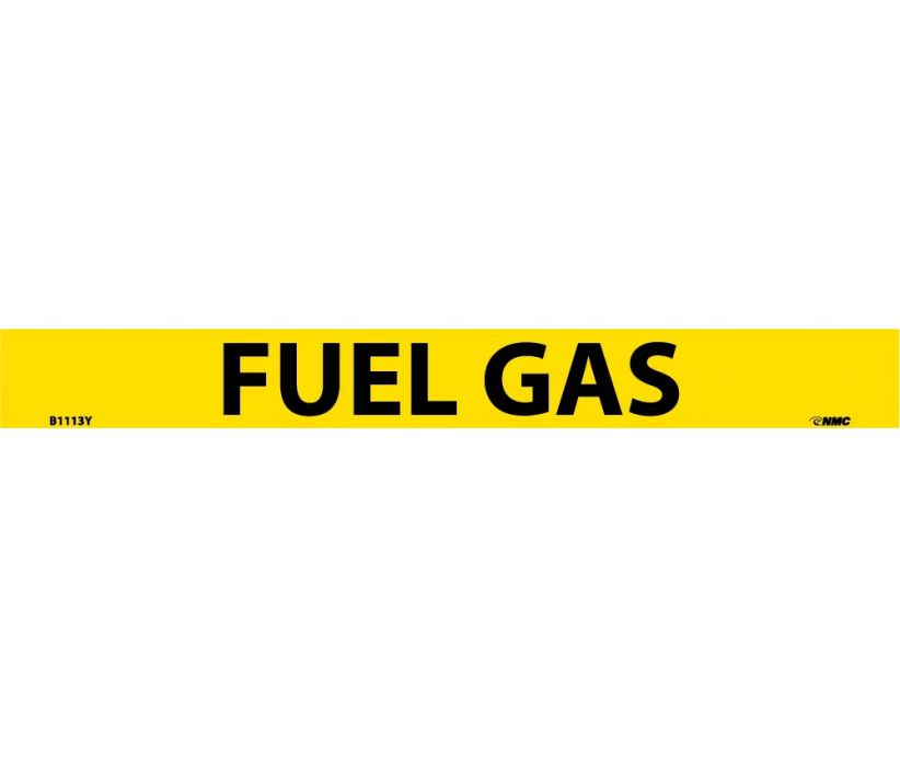 PIPEMARKER, PS VINYL, FUEL GAS, 1X9  3/4