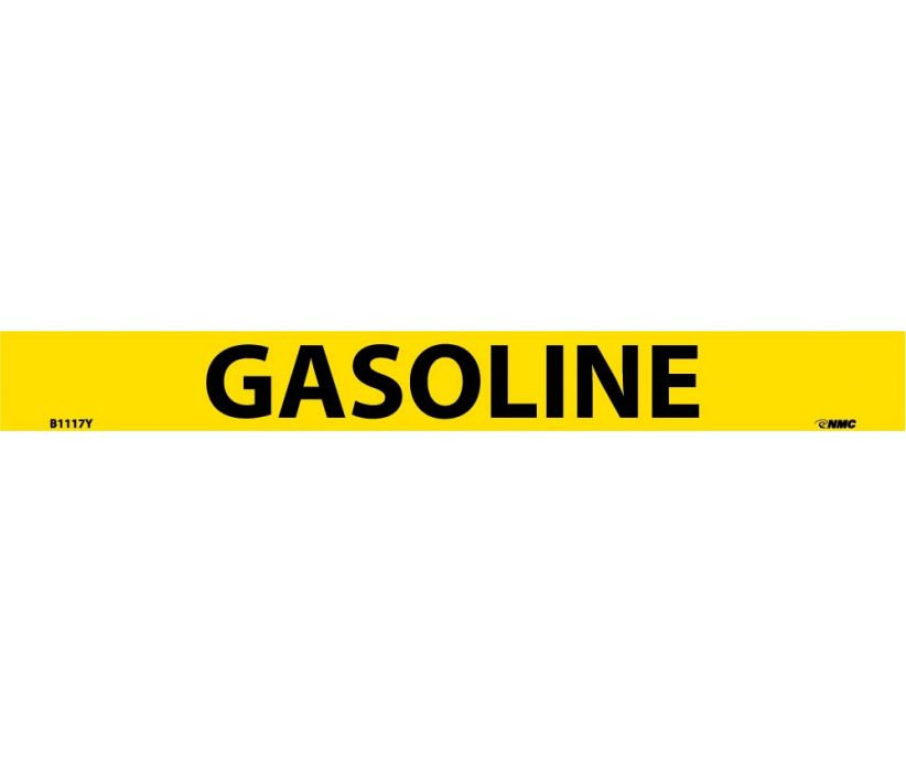 PIPEMARKER, PS VINYL, GASOLINE, 1X9  3/4