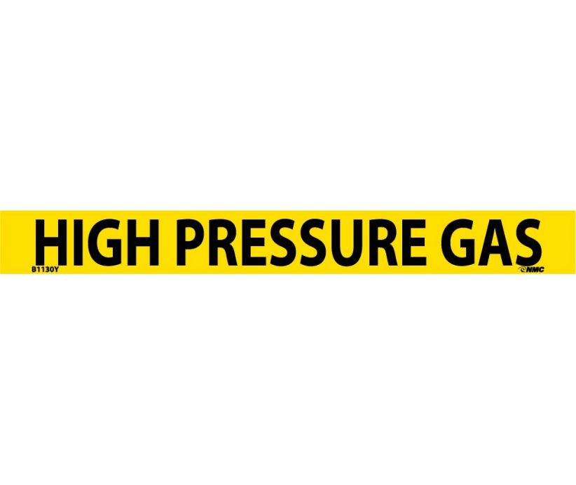 PIPEMARKER, PS VINYL, HIGH PRESSURE GAS, 1X9  3/4