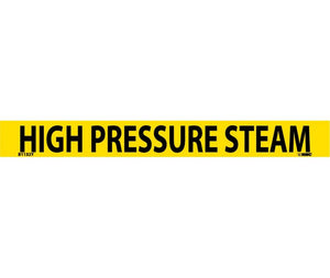 "PIPEMARKER, PS VINYL, HIGH PRESSURE STEAM, 1X9  3/4"" CAP HEIGHT"