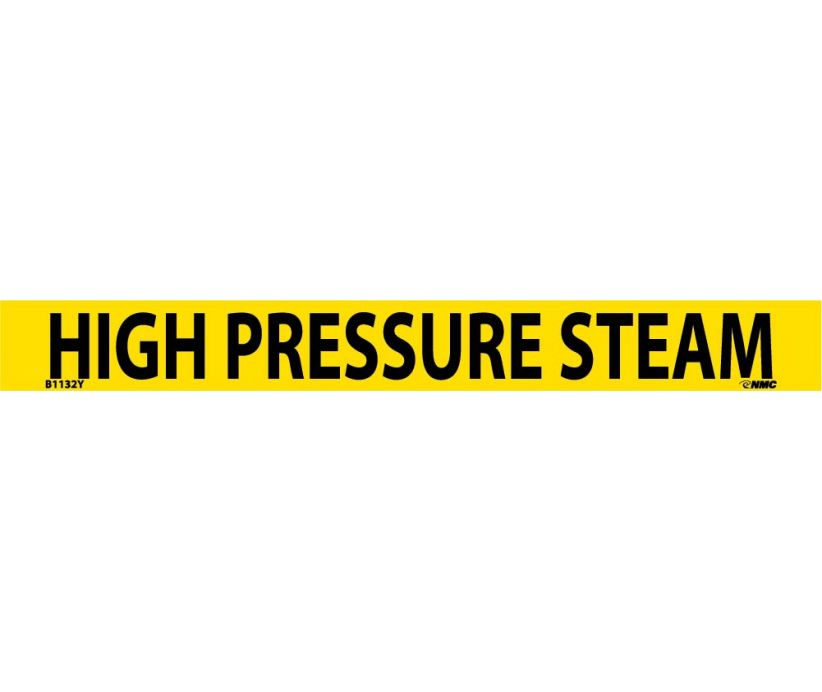 PIPEMARKER, PS VINYL, HIGH PRESSURE STEAM, 1X9  3/4