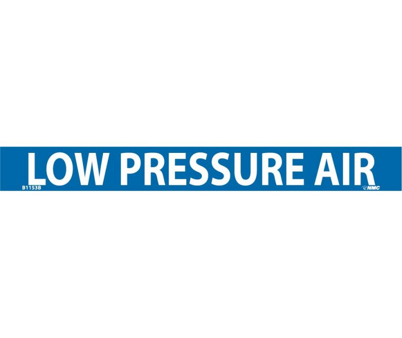 PIPEMARKER, PS VINYL, LOW PRESSURE AIR, 1X9  3/4