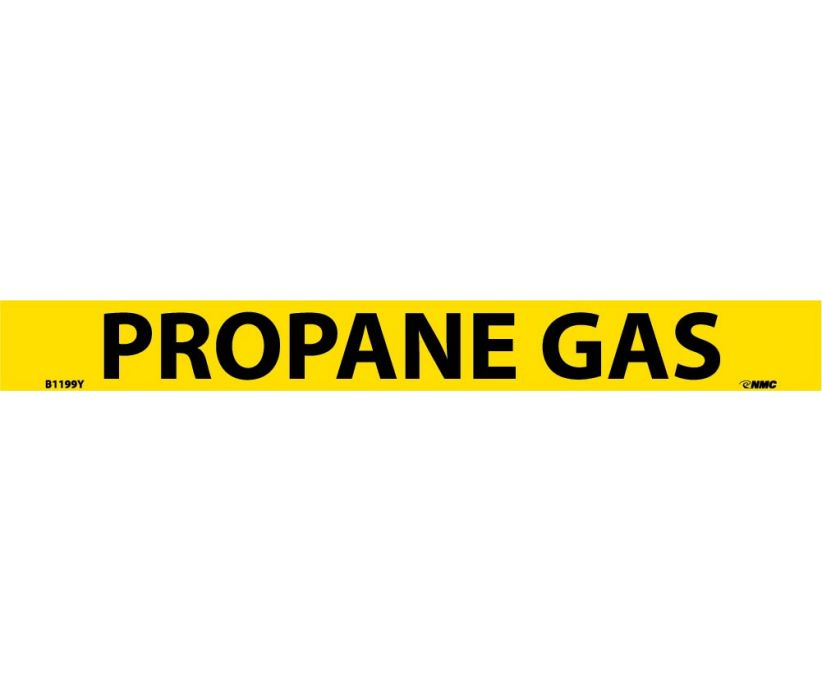 PIPEMARKER, PS VINYL, PROPANE GAS, 1X9  3/4
