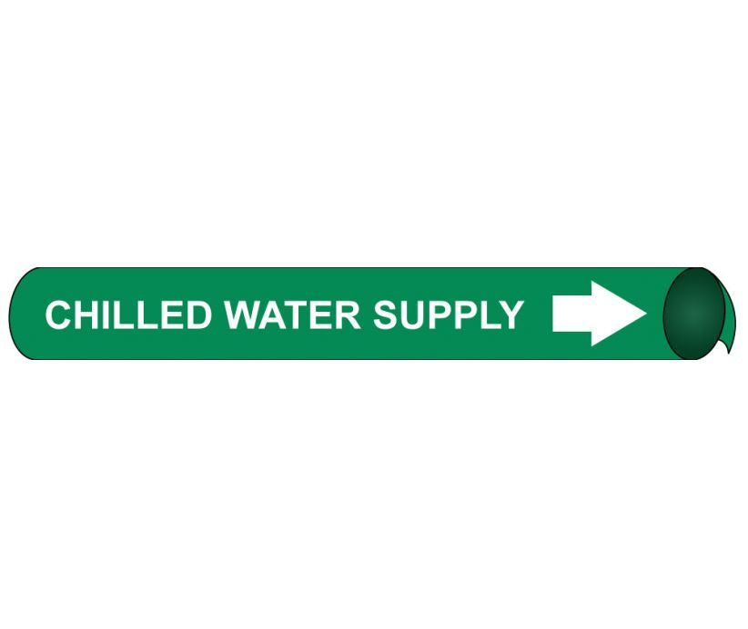 PIPEMARKER PRECOILED, CHILLED WATER SUPPLY W/G, FITS 1 1/8