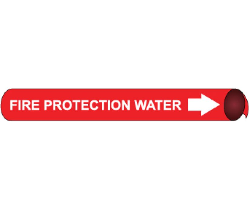 PIPEMARKER PRECOILED, FIRE PROTECTION WATER W/R, FITS 1 1/8