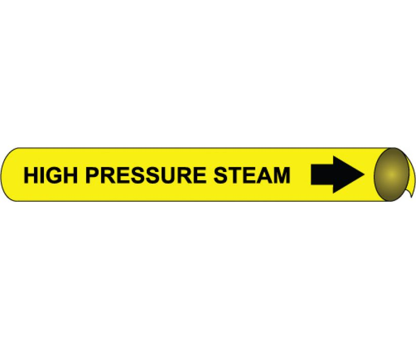 PIPEMARKER PRECOILED, HIGH PRESSURE STEAM B/Y, FITS 1 1/8