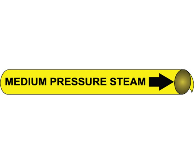 PIPEMARKER PRECOILED, MEDIUM PRESSURE STEAM B/Y, FITS 1 1/8