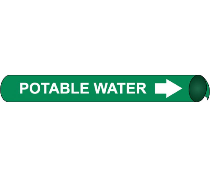 PIPEMARKER PRECOILED, POTABLE WATER W/G, FITS 1 1/8