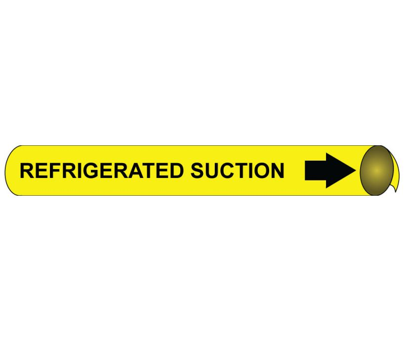 PIPEMARKER PRECOILED, REFRIGERATED SUCTION B/Y, FITS 1 1/8