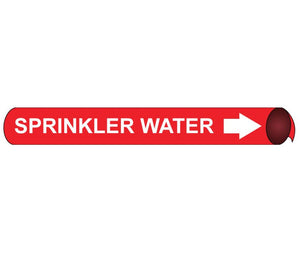 "PIPEMARKER PRECOILED, SPRINKLER WATER W/R, FITS 1 1/8""-2 3/8"" PIPE"