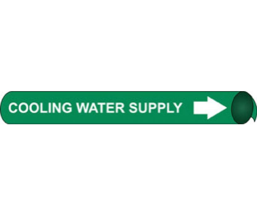 PIPEMARKER PRECOILED, COOLING WATER SUPPLY W/G, FITS 1 1/8