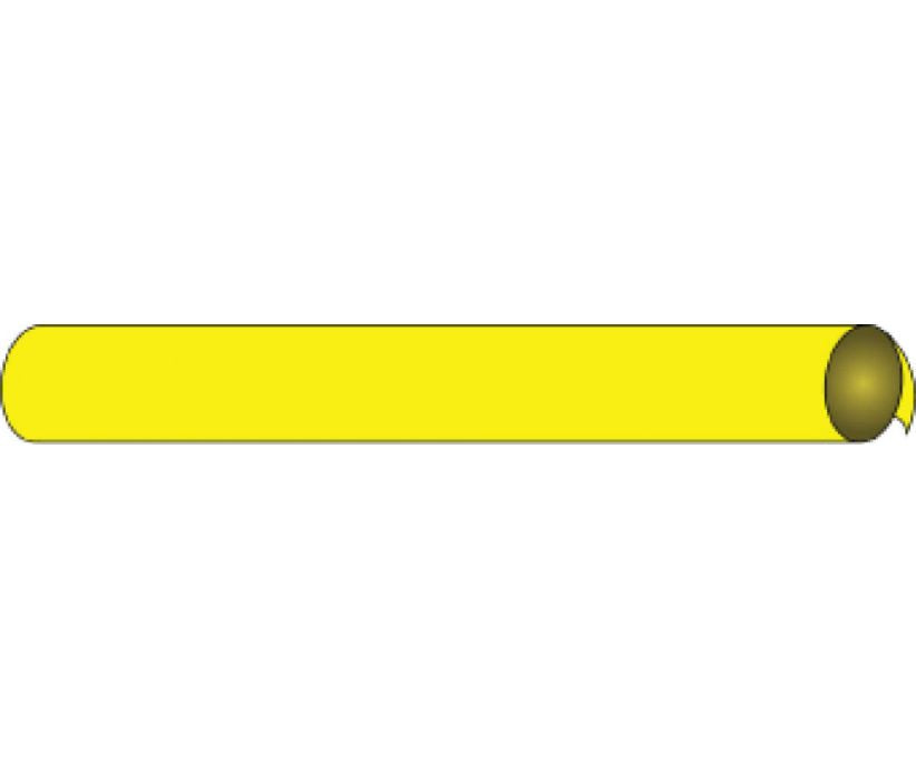 PIPEMARKER PRECOILED, BLANK YELLOW, FITS 1 1/8