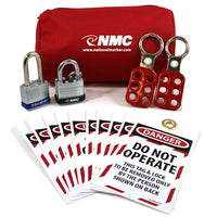 Lockout Tagout Mini Pouch Kit | BLOK8 | Kit Is Stocked and Allows For Easy Transport
