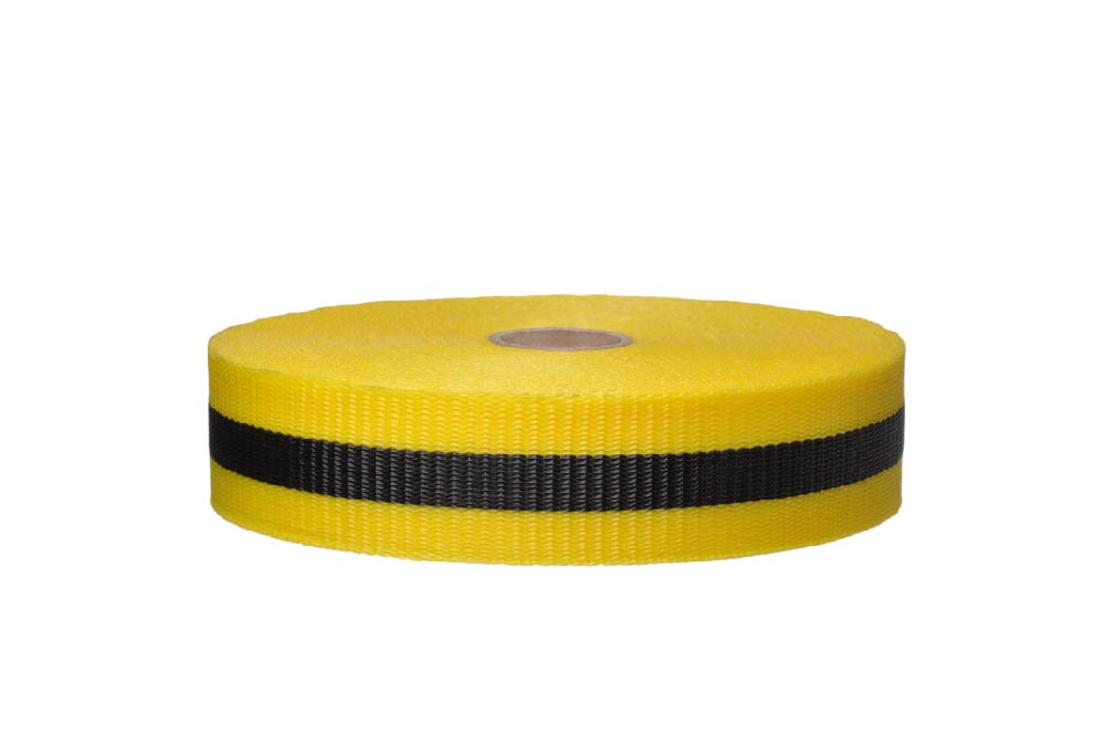 TAPE, WEB BARRIER, BLK/YLW, 3/4IN X 50YDS  96/CASE