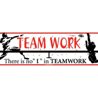 "BANNER, TEAMWORK THERE IS NO ""I"" IN TEAMWORK, 3FT X 10FT"