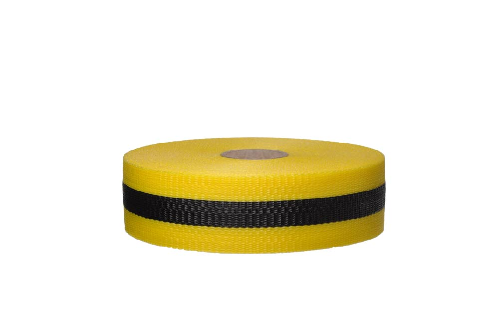 TAPE, WEB BARRIER, BLK/YLW, 2IN X 50YDS