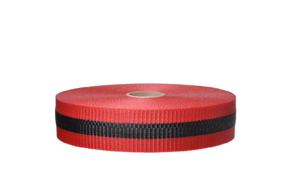 TAPE, WEB BARRIER, RED/BLK, 3/4IN X 50YDS