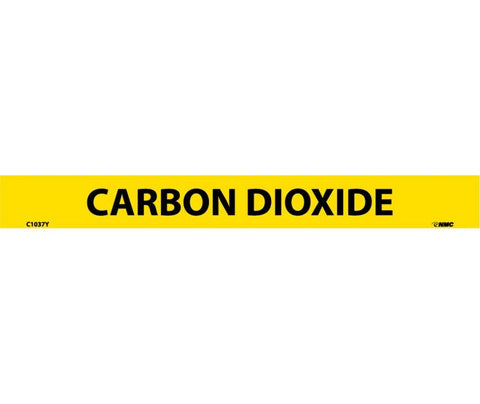 "C1037Y National Marker Carbon Dioxide 1"" x 9"" Self Adhesive Pipe Marker"