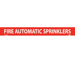 "PIPEMARKER, PS VINYL, FIRE AUTOMATIC SPRINKLERS, 1X9  1/2"" CAP HEIGHT"