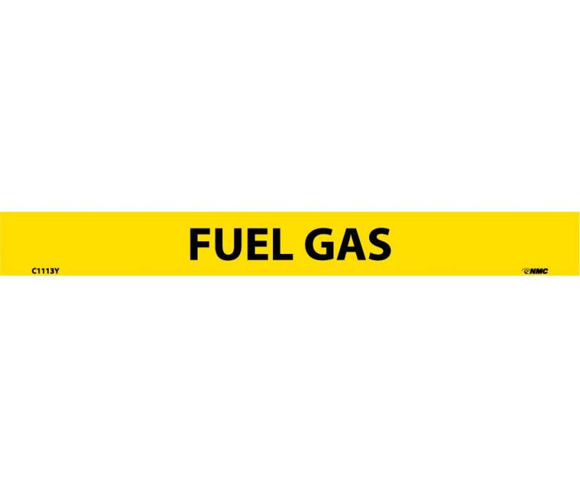 PIPEMARKER, PS VINYL, FUEL GAS, 1X9  1/2