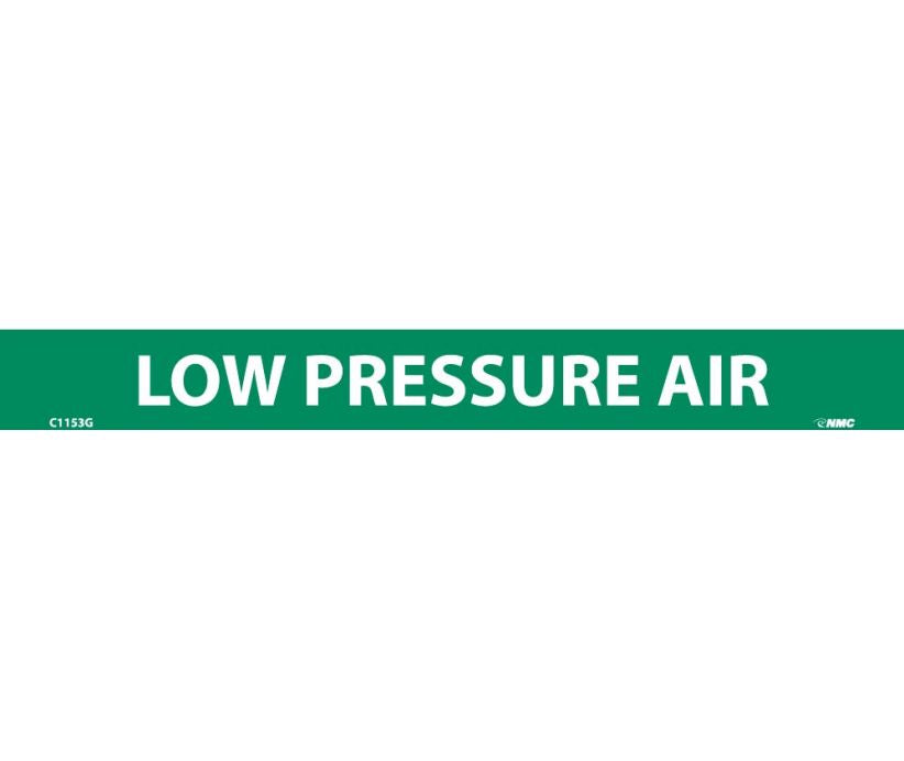 PIPEMARKER, LOW PRESSURE AIR, 1X9, 1/2  LETTER,  PS VINYL