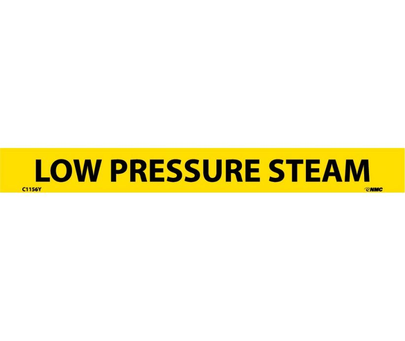 PIPEMARKER, PS VINYL, LOW PRESSURE STEAM, 1X9  1/2