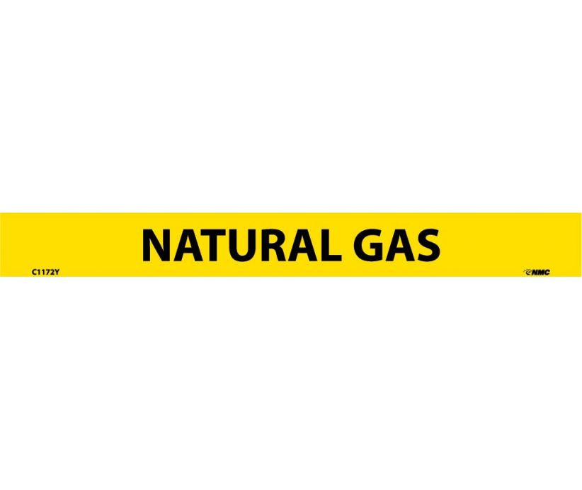 PIPEMARKER, PS VINYL, NATURAL GAS, 1X9  1/2