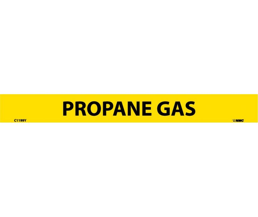 PIPEMARKER, PS VINYL, PROPANE GAS, 1X9  1/2