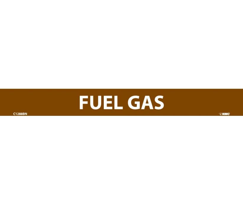 PIPEMARKER, FUEL GAS, 1X9, 1/2  LETTER,  PS VINYL