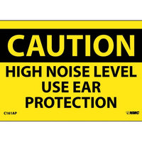 CAUTION, HIGH NOISE LEVEL USE EAR PROTECTION, 3X5, PS VINYL, 5/PK