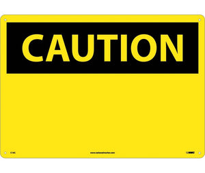 CAUTION, (HEADER ONLY), 14X20, .040 ALUM