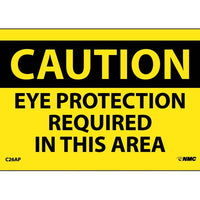 CAUTION, EYE PROTECTION REQUIRED IN THIS AREA, 3X5, PS VINYL, 5/PL