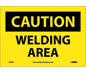 CAUTION, WELDING AREA, 7X10, PS VINYL