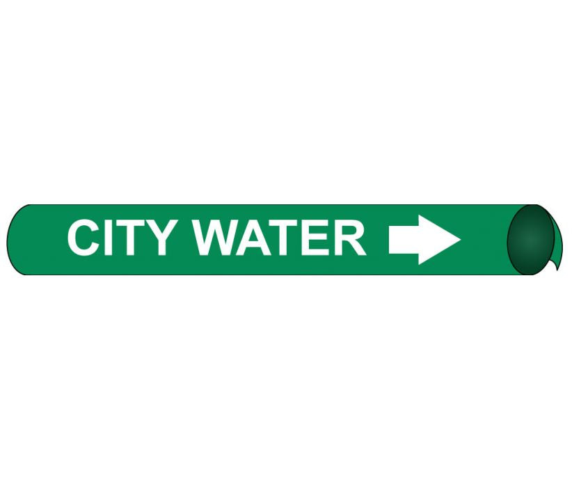 PIPEMARKER PRECOILED, CITY WATER W/G, FITS 2 1/2