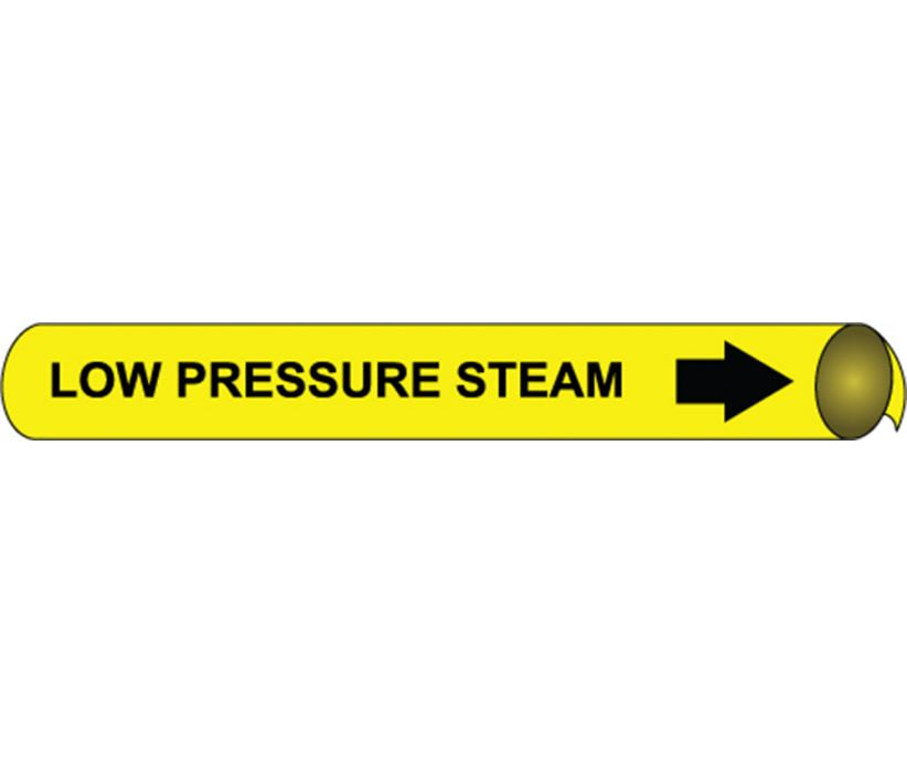 PIPEMARKER PRECOILED, LOW PRESSURE STEAM B/Y, FITS 2 1/2