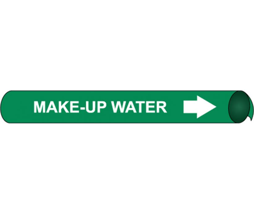PIPEMARKER PRECOILED, MAKE-UP WATER W/G, FITS 2 1/2