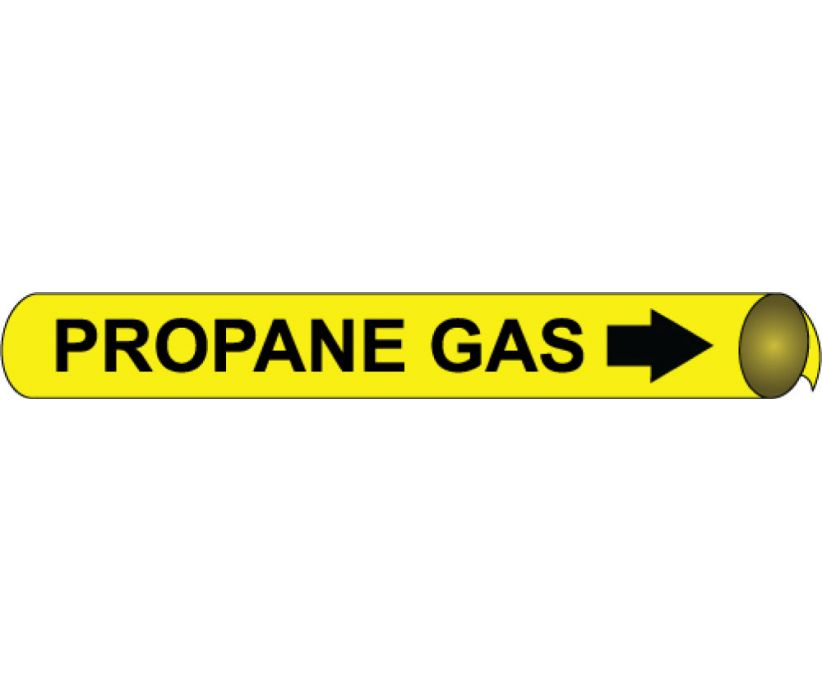 PIPEMARKER PRECOILED, PROPANE GAS B/Y, FITS 2 1/2
