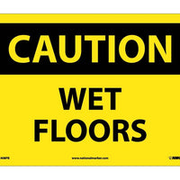 CAUTION, WET FLOORS, 10X14, PS VINYL