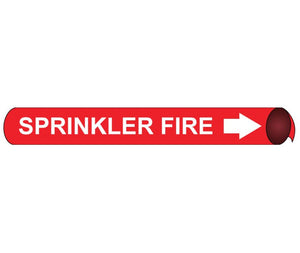 "PIPEMARKER PRECOILED, SPRINKLER FIRE W/R, FITS 2 1/2""-3 1/4"" PIPE"