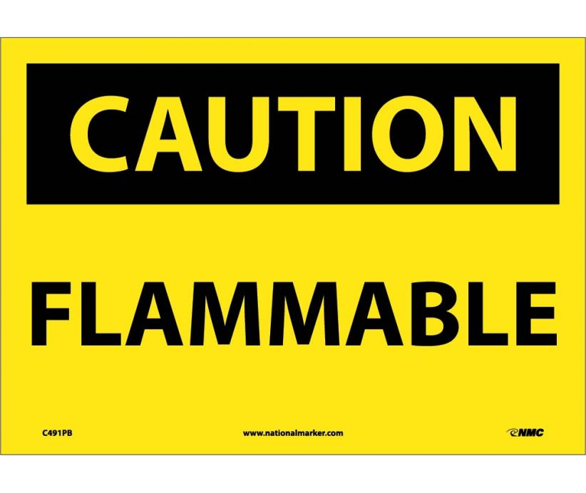 Flammable: OSHA Caution Header Signs (C491) By National Marker