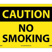 CAUTION, NO SMOKING, 10X14, .040 ALUM