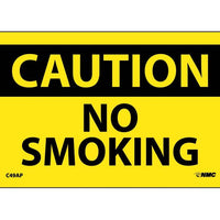 CAUTION, NO SMOKING, 3X5, PS VINYL, 5PK