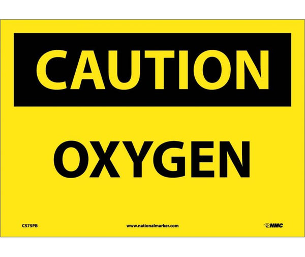 C575 National Marker Chemical and Hazardous Material Safety Signs Caution Oxygen