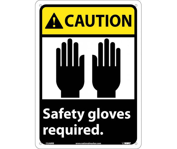 CGA8 National Marker Personal Protection Safety Signs Caution Face Shield Must Be Worn While Operating Machinery