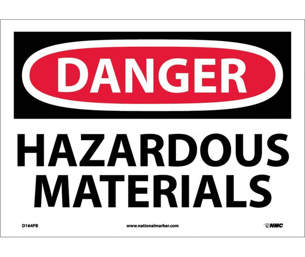 D164 National Marker Chemical and Hazardous Material Safety Signs Danger Hazardous Materials