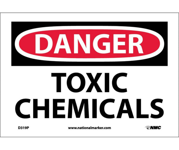 D319 National Marker Chemical and Hazardous Material Safety Signs Danger Toxic Chemicals