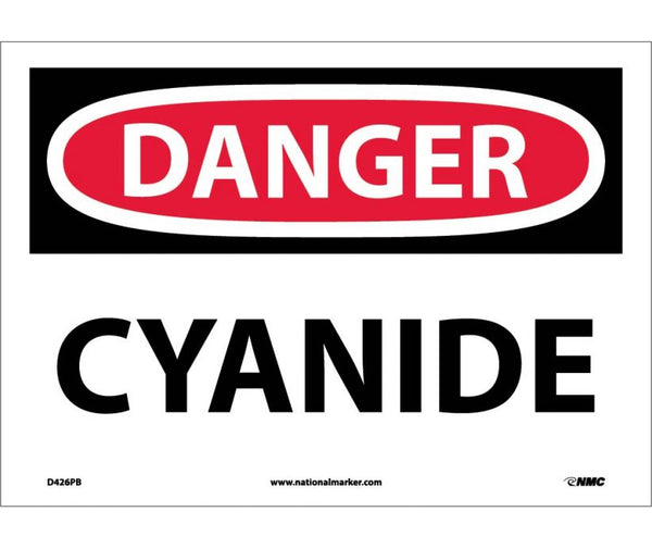 D426 National Marker Chemical and Hazardous Material Safety Signs Danger Cyanide