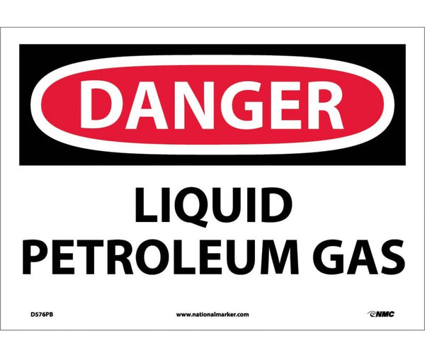D576 National Marker Chemical and Hazardous Material Safety Signs Danger Liquid Petroleum Gas
