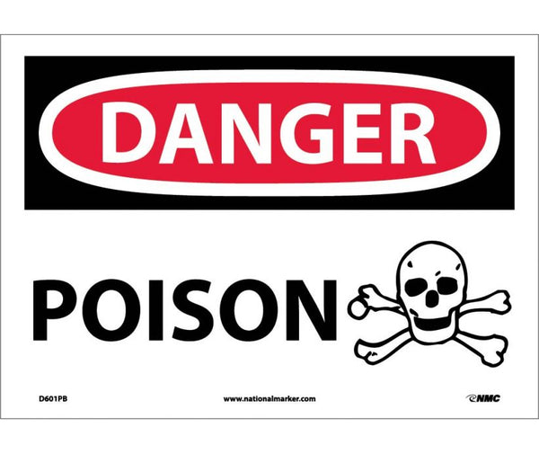 D601 National Marker Chemical and Hazardous Material Safety Signs Danger Poison